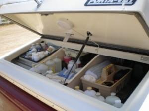 Inside a vet truck