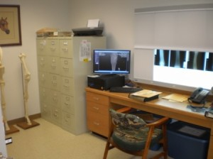 X-ray viewing room